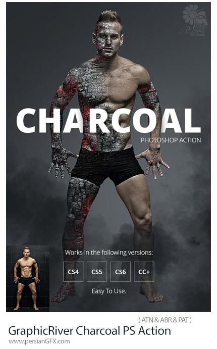 دانلود اکشن فتوشاپ ایجاد افکت زغال روشن بر روی تصاویر از گرافیک ریور - GraphicRiver Charcoal Photoshop Action