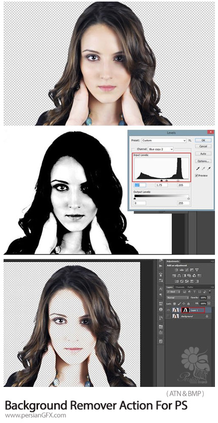 دانلود اکشن فتوشاپ حذف پس زمینه تصاویر - Background Remover Action For Photoshop