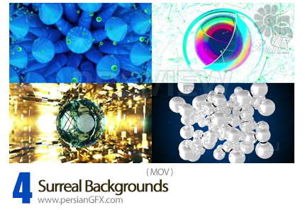 دانلود 4 فایل آماده ویدئوی بک گراندهای سورئال - 4 Surreal Backgrounds