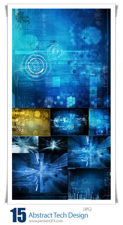 دانلود تصاویر با کیفیت بک گراندهای با موضوع فن آوری و تکنولوژی - Abstract Tech Design