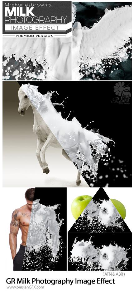 دانلود اکشن فتوشاپ ساخت تصاویر فتوگرافی با افکت شیر به همراه آموزش ویدئویی از گرافیک ریور - Graphicriver Milk Photography Image Effect
