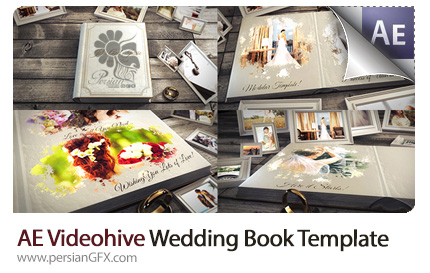 دانلود پروژه آماده افترافکت نمایش آلبوم عکس عروسی از ویدئوهایو - Videohive Wedding Book After Effects Templates