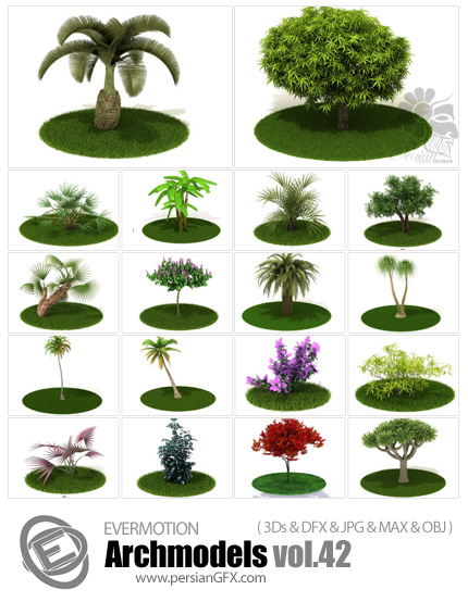 دانلود مدل های آماده سه بعدی آرچ مدل - آبجکت آماده از انواع گل و گیاه طبیعی و ... - شماره 42 - Archmodels 42
