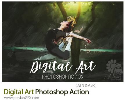 دانلود اکشن فتوشاپ تبدیل تصاویر به نقاشی دیجیتال - Digital Art Photoshop Action