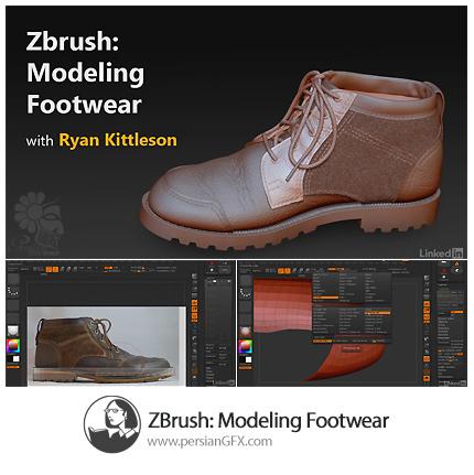 دانلود آموزش مدلسازی کفش در نرم افزار زدبراش از لیندا - Lynda ZBrush: Modeling Footwear
