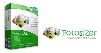 دانلود نرم افزار تغییر حجم گروهی تصاویر - Fotosizer Professional v3.8.0.566