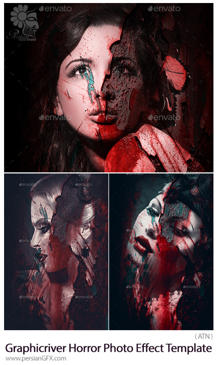 دانلود افکت لایه باز ساخت تصاویر وحشتناک از گرافیک ریور - Graphicriver Horror Photo Effect Template