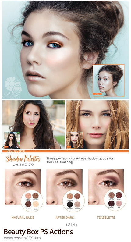 دانلود اکشن فتوشاپ زیباسازی حرفه ای تصاویر به همراه آموزش ویدئویی - Beauty Box PS Actions
