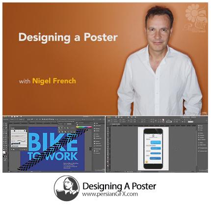 دانلود آموزش طراحی پوستر در فتوشاپ و ایلوستریتور و ایندیزاین از لیندا - Lynda Designing A Poster