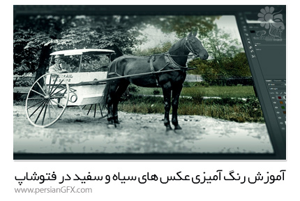 دانلود آموزش رنگ آمیزی عکس های سیاه و سفید در فتوشاپ از  Pluralsight - Pluralsight Colorizing Black And White Photographs