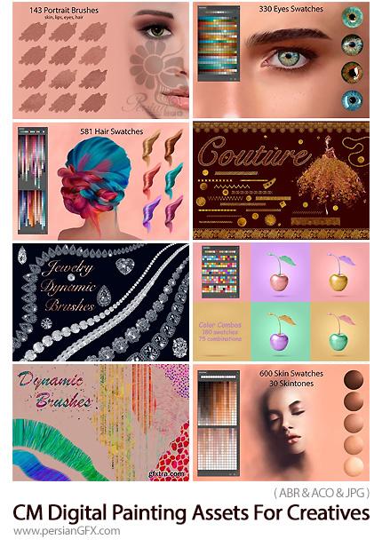 دانلود مجموعه براش و سواچ فتوشاپ برای طراحی و نقاشی دیجیتال - CM Digital Painting Assets For Creatives