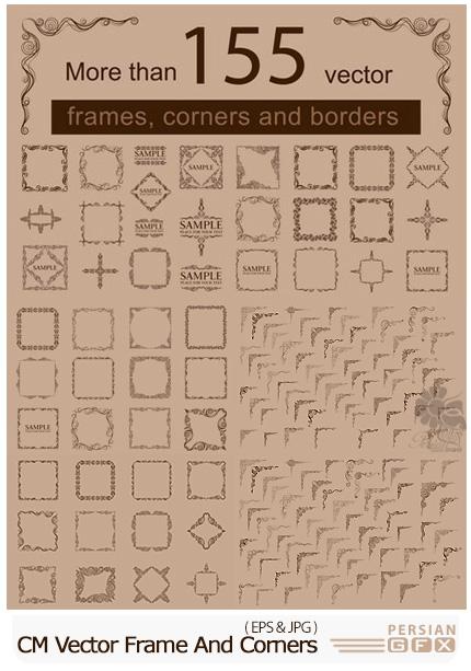 دانلود تصاویر وکتور قاب و حاشیه تزئینی - CM Vector Frame And Corners