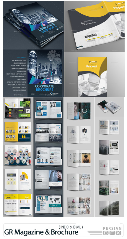دانلود مجله و بروشور تجاری با فرمت ایندیزاین از گرافیک ریور - GraphicRiver Multipurpose Business Magazine And Brochure