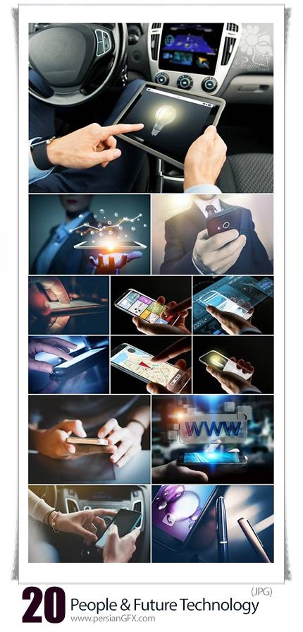 دانلود تصاویر با کیفیت مفهومی از مردم و تکنولوژی آینده - People And Future Technology Concept