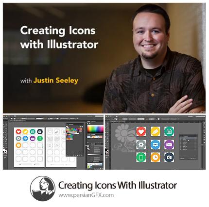 دانلود آموزش ساخت آیکون در ایلوستریتور از لیندا - Lynda Creating Icons With Illustrator