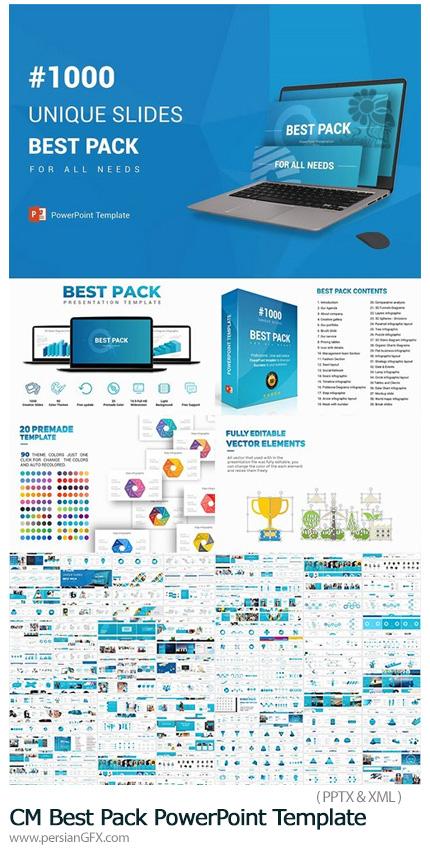 دانلود مجموعه قالب های آماده تجاری پاورپوینت - CM Best Pack PowerPoint Template