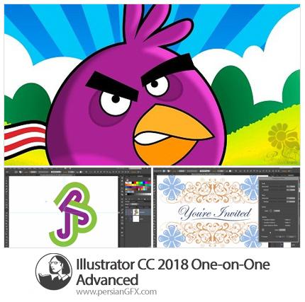 دانلود آموزش قدم به قدم ویژگی های پیشرفته ایلوستریتور سی سی 2018 از لیندا - Lynda Illustrator CC 2018 One-on-One Advanced
