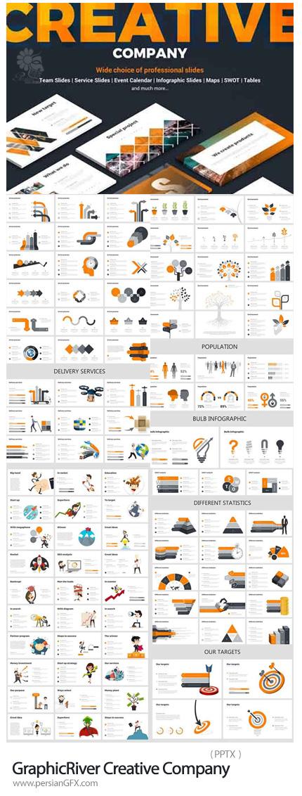 دانلود مجموعه قالب های آماده تجاری پاورپوینت از گرافیک ریور - GraphicRiver Creative Company