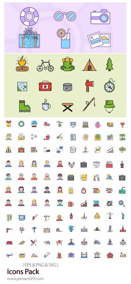 دانلود مجموعه آیکون وکتور با موضوعات مختلف تجاری، سئو، شهر، پول و ... - Icons Pack
