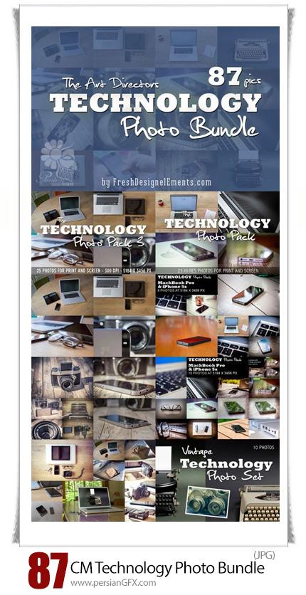 دانلود مجموعه تصاویر با کیفیت دستگاه های دیجیتالی با تکنولوژی مدرن و قدیمی، لپ تاپ، موبایل، دوربین عکاسی و ... - CM Technology Photo Bundle
