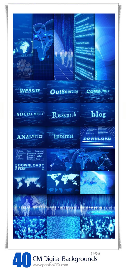 دانلود مجموعه تصاویر با کیفیت بک گراندهای دیجیتالی متنوع - CM Digital Thematic Backgrounds Pack