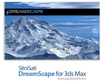 دانلود پلاگین شبیه سازی مناظر مختلف از آب، خشکی و آسمان برای نرم افزار تری دی مکس - SitniSati DreamScape v2.5.8 x64 for 3ds Max 2018-2019