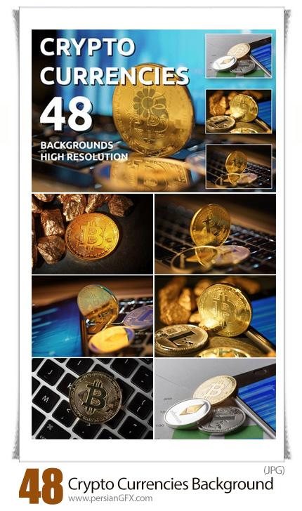 دانلود تصویر ارزهای دیجیتال رمزنگاری شده، بیت کوین - DesignBundles Crypto Currencies 48 Background