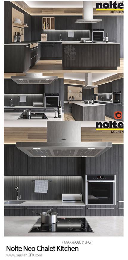 دانلود مدل های سه بعدی آشپزخانه - Nolte Neo Chalet Kitchen