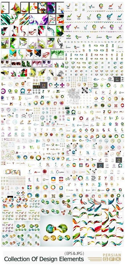 دانلود مجموعه وکتور طرح های گرافیکی انتزاعی - Vector Mega Collection Of Design Elements