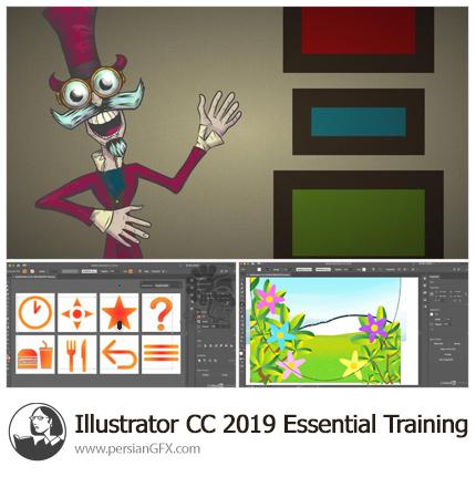 دانلود آموزش نکات ضروری ایلویتریتور سی سی 2019 از لیندا - Lynda Illustrator CC 2019 Essential Training
