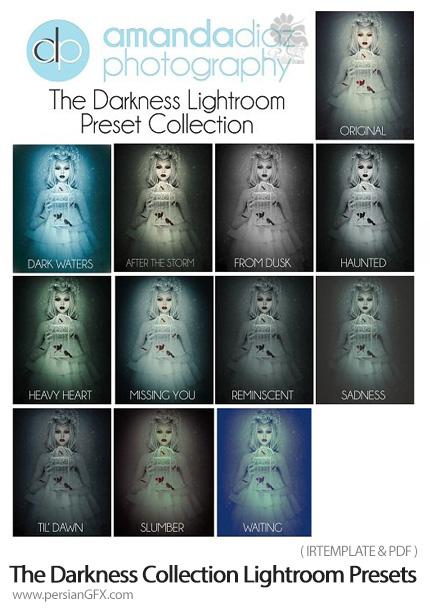 دانلود پریست های تیره لایتروم از آماندا دیاز- Amanda Diaz The Darkness Collection Lightroom Presets