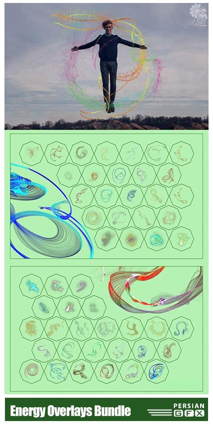 دانلود مجموعه کلیپ آرت افکت انرژی های متنوع - Energy Overlays Bundle 08