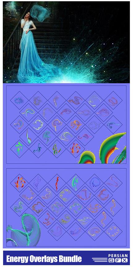 دانلود مجموعه کلیپ آرت افکت انرژی های متنوع - Energy Overlays Bundle 09