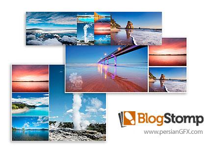 دانلود نرم افزار ترکیب تصاویر و ساخت قالب برای اشتراک گذاری در وبلاگ و شبکه های اجتماعی - BlogStomp v3.64