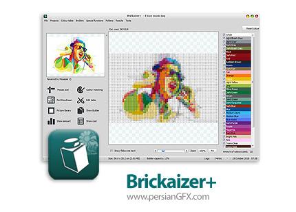 دانلود نرم افزار ساخت طرح های موزاییکی - Brickaizer+ v7.0.0.225