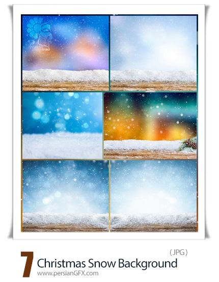 دانلود بک گراندهای برفی با کیفیت برای کریسمس - Christmas Snow Background