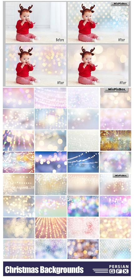 دانلود کلیپ آرت بک گراند های نورانی و تزئینی برای جشن ها و کریسمس - Christmas Backgrounds