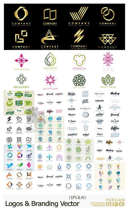 دانلود مجموعه وکتور آرم و لوگوی رنگارنگ متنوع - Colorful Logos And Branding Vector Collection