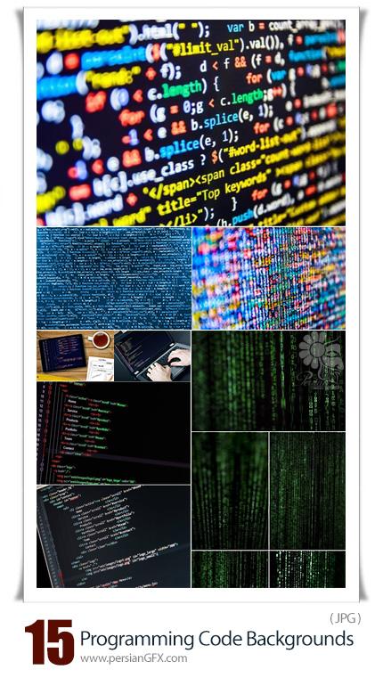 دانلود بک گراند های با کیفیت کدهای برنامه نویسی و باینری - Stock Photo Programming Code Backgrounds
