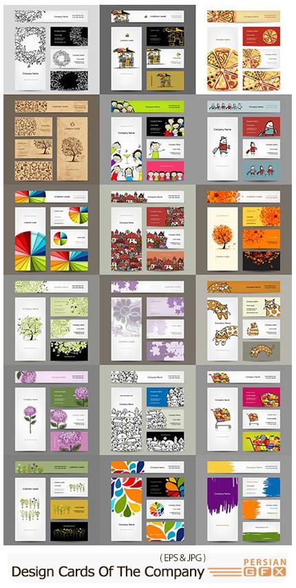 دانلود وکتور بنر، بروشور و کارت ویزیت با طرح های فانتزی متنوع - Design Cards Of The Company