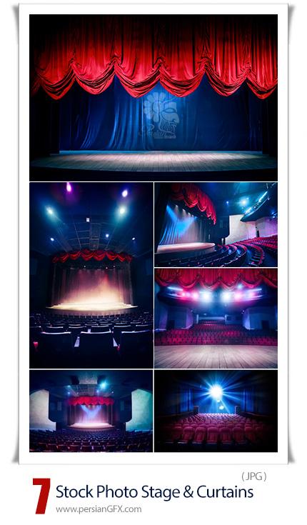 دانلود تصاویر با کیفیت استیج و پرده سینما - Stock Photo Stage And Curtains