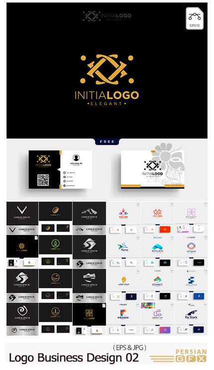 دانلود مجموعه وکتور ست اداری و آرم و لوگوی تجاری متنوع - Logo Business Vector Design Illustration 02
