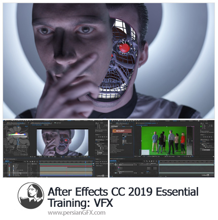 دانلود آموزش مبانی افترافکت سی سی 2019 : جلوه های ویژه VFX از لیندا - Lynda After Effects CC 2019 Essential Training: VFX