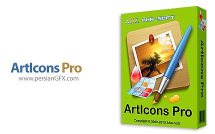 دانلود نرم افزار ساخت و ویرایش آیکون - Aha-Soft ArtIcons Pro v5.52