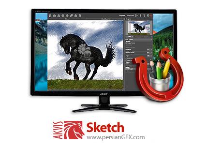 دانلود نرم افزار تبدیل عکس به نقاشی - AKVIS Sketch v20.6.3214.17427 x86/x64