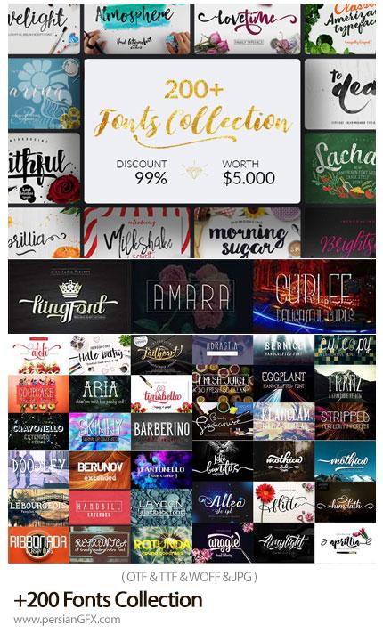 دانلود بیش از 200 فونت انگلیسی با طرح های متنوع - 200 Fonts Collection