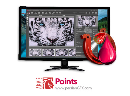دانلود نرم افزار ساخت تصاویر پیکسلی - AKVIS Points v4.1.325.17427 x86/x64