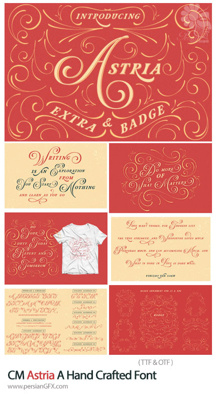 دانلود فونت خوشنویسی انگلیسی Astria - CM Astria A Hand Crafted Font