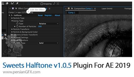 دانلود پلاگین Sweets Halftone v1.0.5 برای افترافکت 2019 - Sweets Halftone v1.0.5 Plugin For After Effect 2019