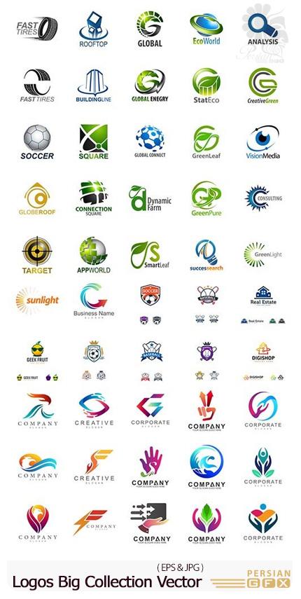 دانلود مجموعه آرم و لوگو با موضوعات متنوع - Logos Big Collection Vector Set